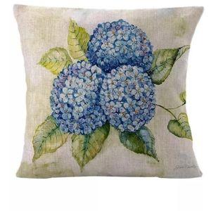 Blue Hydrangeas Pillow Cover Case New